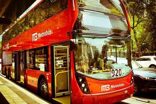 Metrobus, Bus, Red, Cdmx, Mexico, Transport, Buses