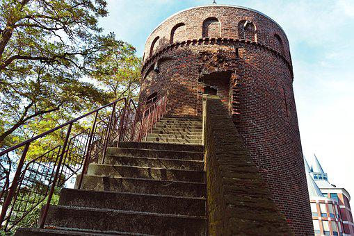 Roermond, City Tower, City Wall, Ruin, Building