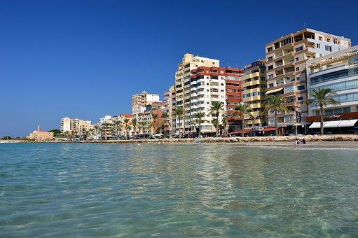 City, Building, Backdrop, Beach, Sea, Coast, Landscape