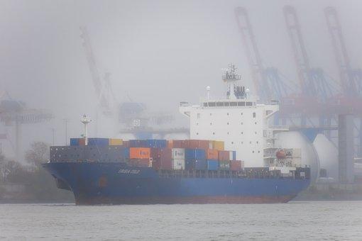 Container Ship, Ship, Cranes, Harbour Cranes, Port