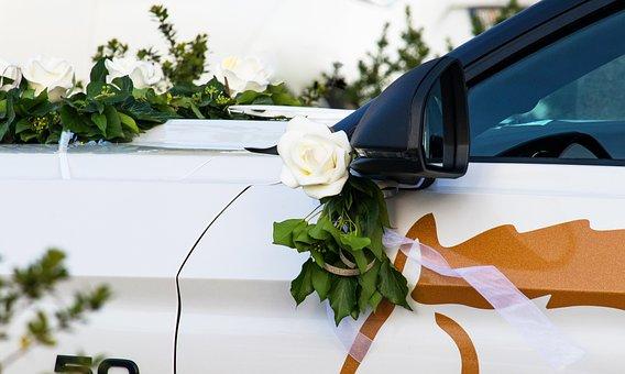 Wedding Car, Auto, Floral Decorations, Wedding