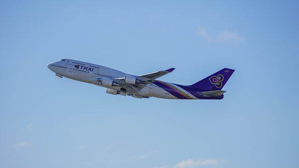 Thai Airlines, Flying, Flight, Aircraft, Commercial