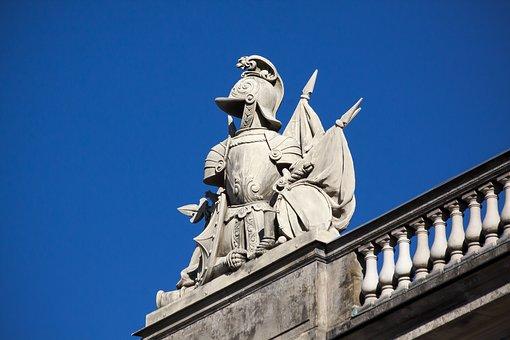 Harnisch, Armor, Helm, Flag, Knight, Historically