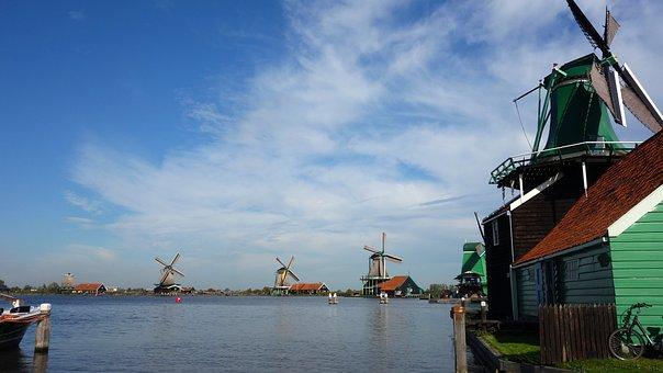 Zaanse Schans, Windmills, Tourism, Netherlands, Holland