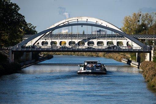 Channel, Ship, Bridge, Inland Waterway Transport