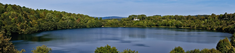 Panorama, Lake, Trees, Maar, Volcanic, Eifel