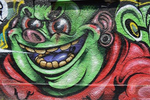 Graffiti, Street, San Siro, Milan, Milano, Italy, Wall