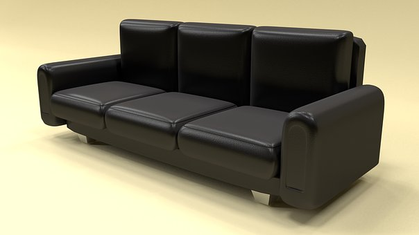 Leather Sofa, Furniture, Home, Modern Black Leather