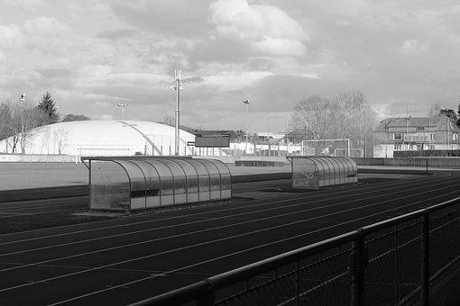 Black And White, Nature, Mood, Autumn, Stadium, Sport
