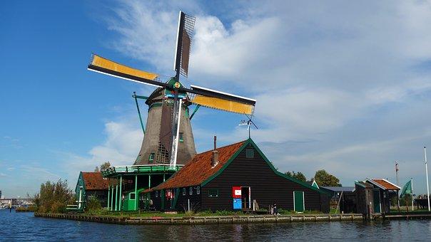 Zaanse Schans, Wind Mill, Tourism, Netherlands, Holland