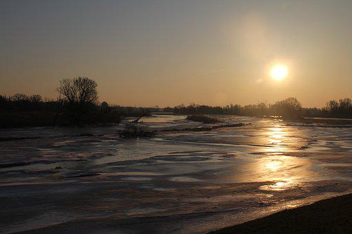 Oderbruch, Or, River, Nature, Water, Landscape
