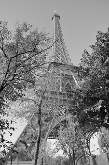 Eiffel Tower, Photo Black White Eiffel Tower