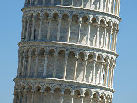 Pisa, Slate, Tower, Architecture, Tuscany, Italy