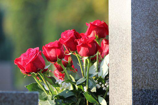 Red Roses Bouquet, Condolence, Remembering, Love, Grave