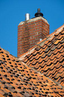 Fireplace, Roof, Tile, Roof Shingles, Chimney, Brick