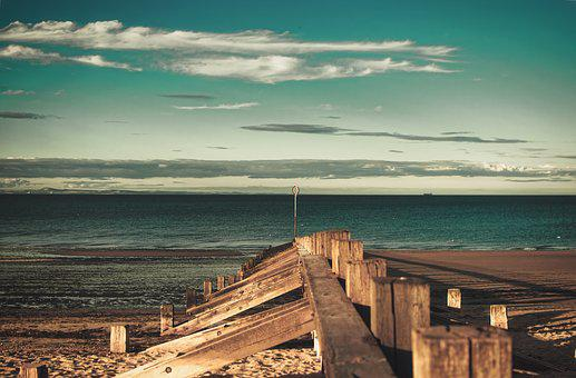 Beach, Barrier, Wood, Sand, Nature, Sea, Landscape