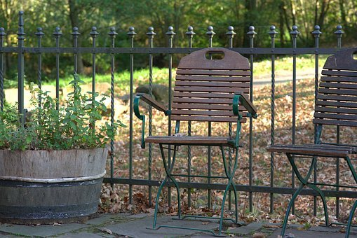Chair, Relaxation, Autumn, Fence, Rural, Leaves, Scenic