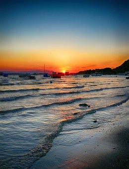 Sunset, Marine, Sky, Nature, Sunrise, Landscape, Boat
