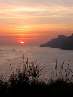 Sunset, Landscape, Nature, Sea, Spain