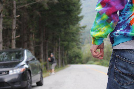 Trippy, Ready To Go, Standing, Man, Sweater, Forest