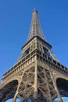Eiffel Tower, Paris Eiffel Tower, Tourist Town