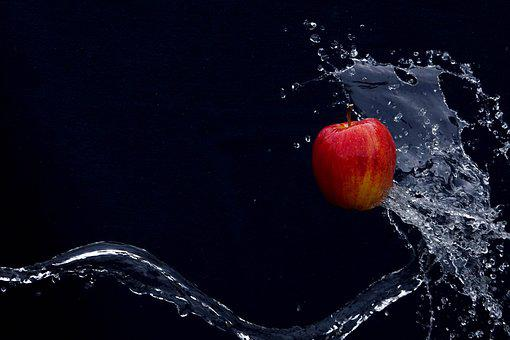 Apple, Fruit, Sparkling, Water, Healthy, Vitamins, Red
