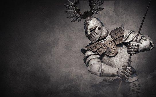 Knight, Warrior, Background, Fight, Held, Battle