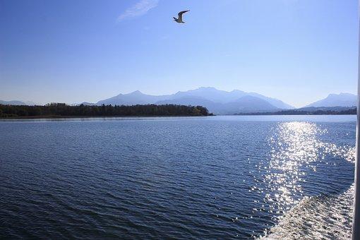 Lake, Chiemsee, Water, Bavaria, Nature, Mood, Sky