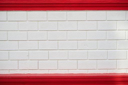Wall, Brick, White, Red, Texture, Pattern, Stone