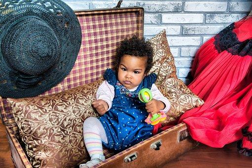Girl, Child, African, Mulatto, Kids, Portrait, People