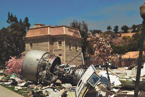 Aircraft, Crash, Engine, Film, Backdrop, Wreck
