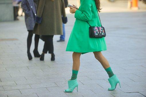 Legs, Autumn, Gait, Girl, Street, Stroll, Coat