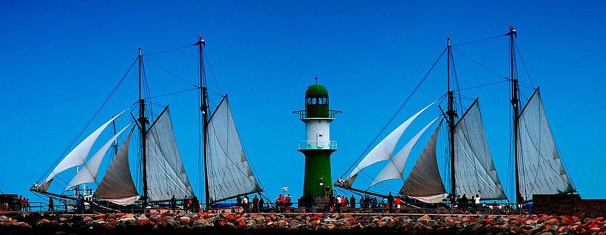 Baltic Sea, Sea, Water, Coast, Vacations, Blue, Sky