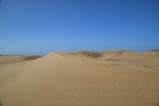 Desert, Beach, Gran Canaria, Sand, Spain, Dry, Wide