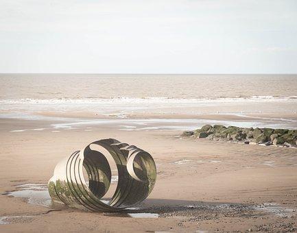 Beach, Blackpool, Lancashire, Sea, Sand, Seaside
