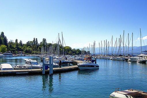 Lake, Boat, Water, Nature, Sea, Blue, Landscape, Summer