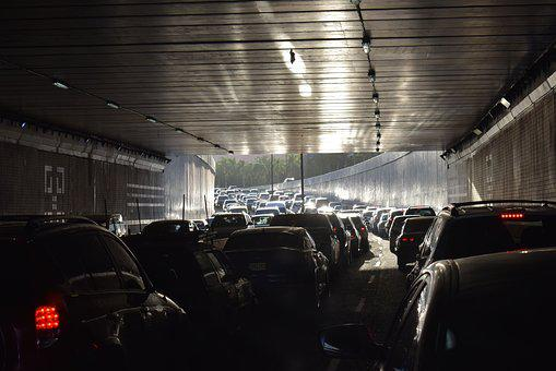 Traffic, Cars, Avenue, Bottling, Cars In The Tunnel
