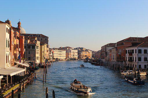 Venice, Italy, Channel, Tourism, Travel, Gondola, House