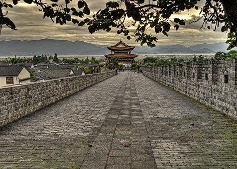 Asia, Asian, Brick, Castle, China, Chinese