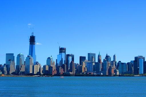New York, Skyline, City, Manhattan, Skyscrapers, Usa