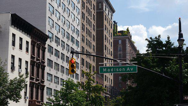 New York, City, Street, Skyscrapers, United States