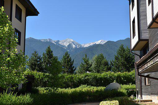 Mountain, Sky, Blue Sky, Landscape, Nature, Clouds