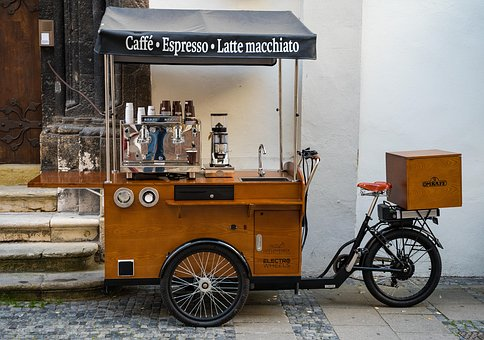 Street Coffee, Coffee, Tea, Street Food, Bike, Antique