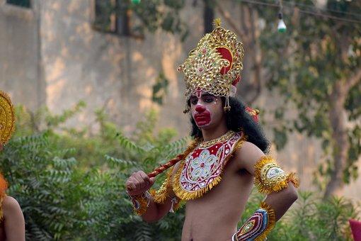 Costume, Ramleela, Ramayana, Monkeyman, Dusshera