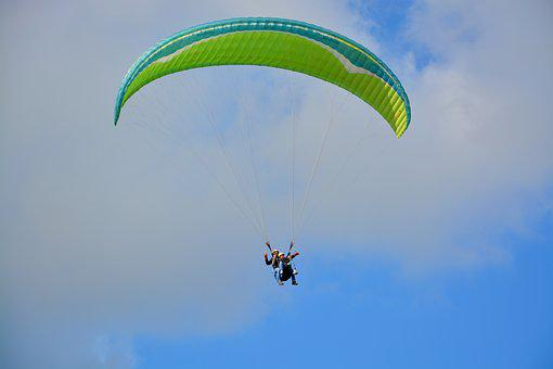 Paragliding, Paraglider, Sailing, Wing, Fifth Wheel