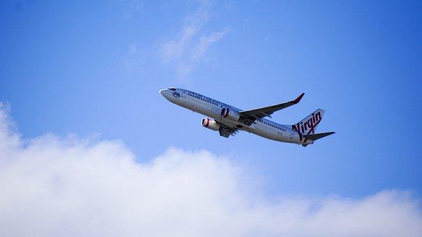 Virgin Airlines, Flying, Flight, Aircraft, Commercial