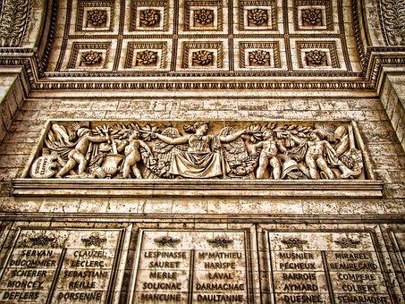 Arch Of Triumph, Paris, Architecture, Monument, France