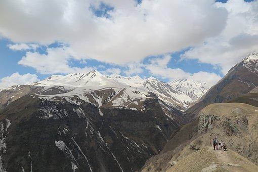 Georgia, Gudauri, Mountain, Caucasus, The Caucasus