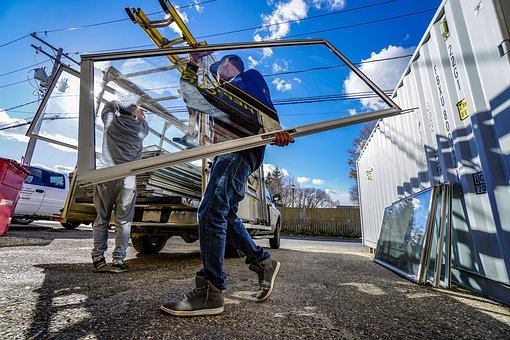 Glass Work, Workers, Carrying Glass, Glass Carriers