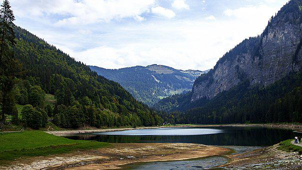 Lake, Haute-savoie, Mountain, France, Nature, Landscape